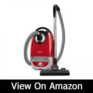 Miele Complete C2 Hard Floor Canister Vacuum Cleaner with SBD285-3 Combination Rug and Floor Tool + SBB300-3 Parquet Floor Brush - Autumn Red