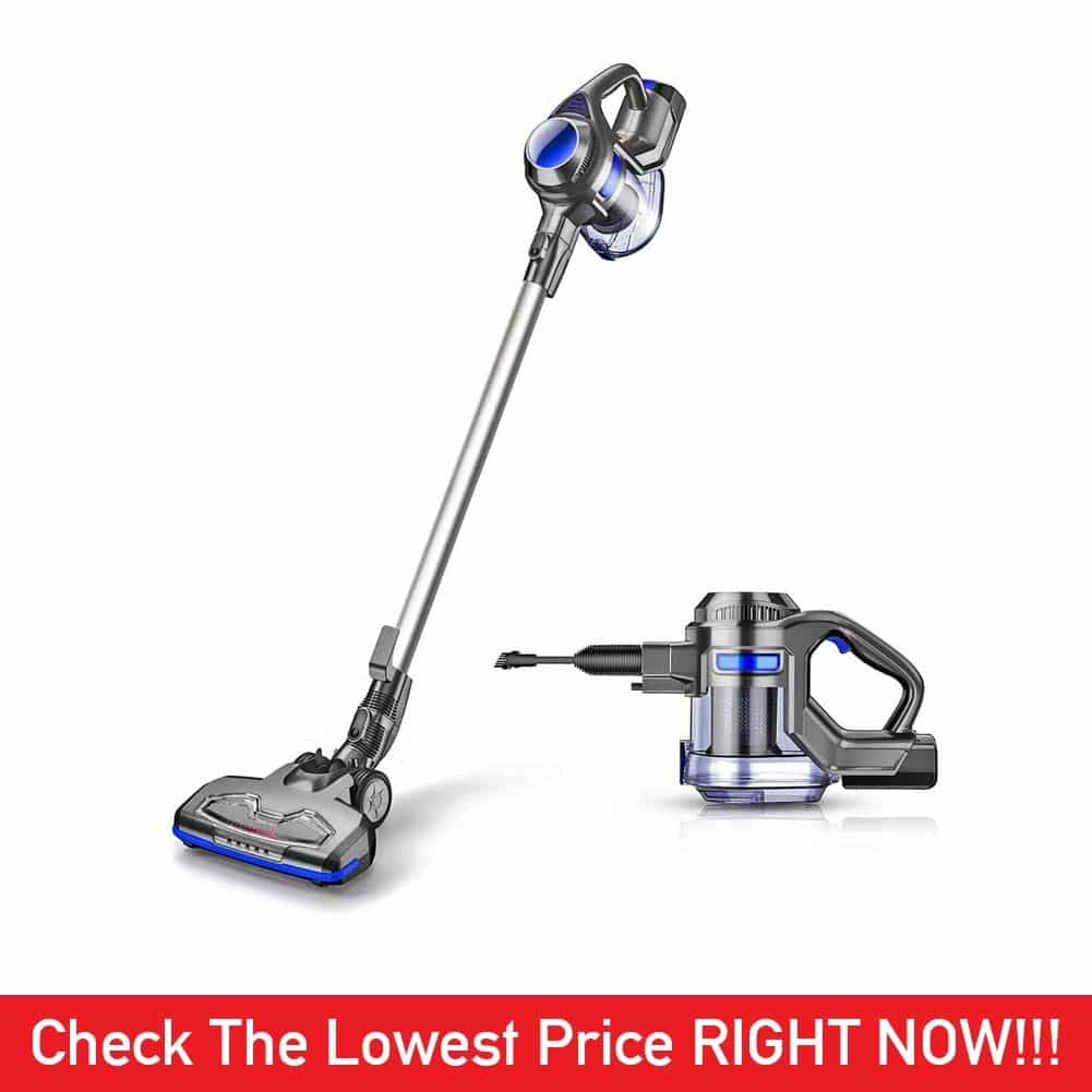 MOOSOO Cordless Vacuum 4 in 1 Powerful Suction 10Kpa Stick Handheld Vacuum Cleaner for Home Hard Floor Carpet Car Pet - XL-618A, Lightweight