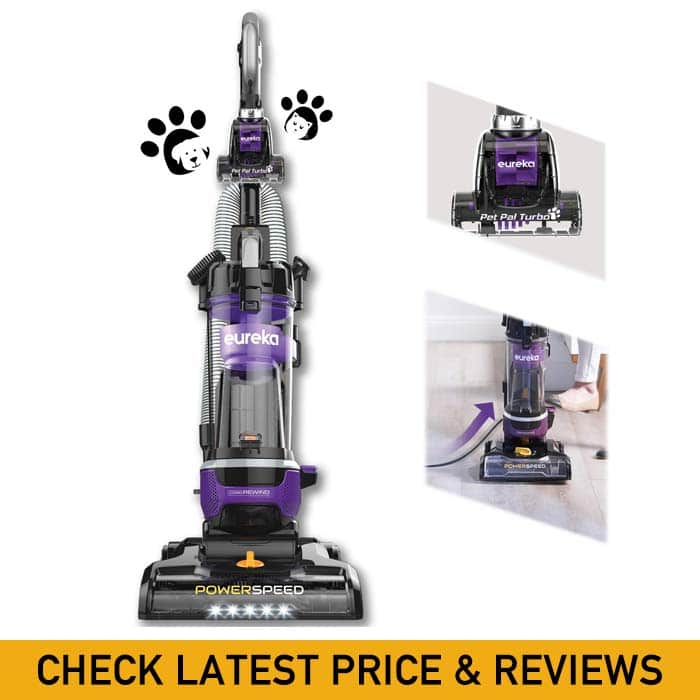Eureka NEU202 PowerSpeed Lightweight Bagless Upright Vacuum Cleaner with Automatic Cord Rewind and 4 On-Board Tools, Pet + CordRewind, Grape Purple