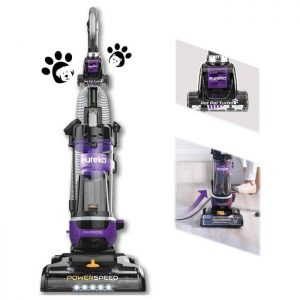 Eureka Bagless Upright Vacuum Cleaner, Automatic Cord Rewind with Pet Tool, Purple, NEU202