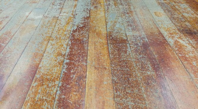 how to clean old damaged wood floors