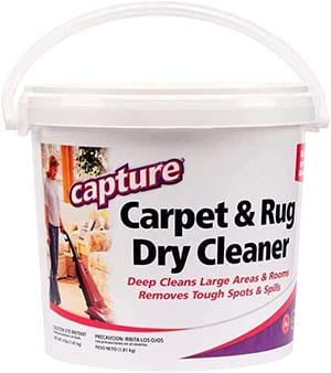 how to clean an area rug inside